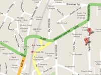 Friends Meeting House map, Kundalini Yoga in Forest Hill, London